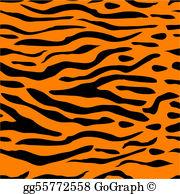 Tiger Stripes Clip Art.