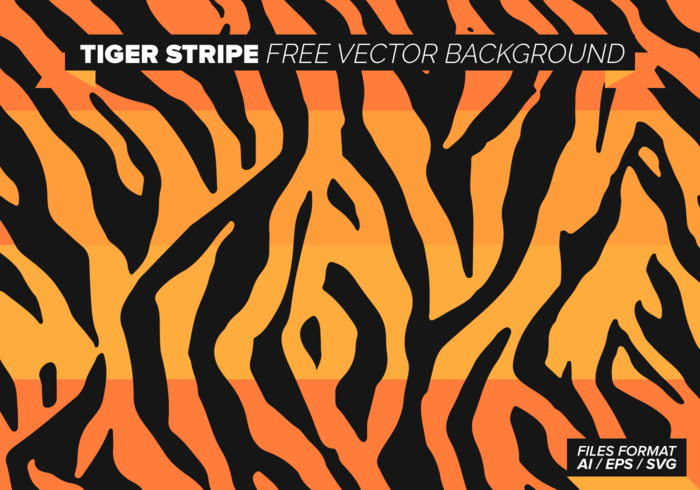 Tiger Print Free Vector Art.