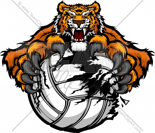 Tiger Volleyball Clipart.