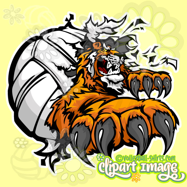 Volleyball Tiger Art.