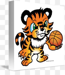 Tiger Basketball Ball Cartoon free download.