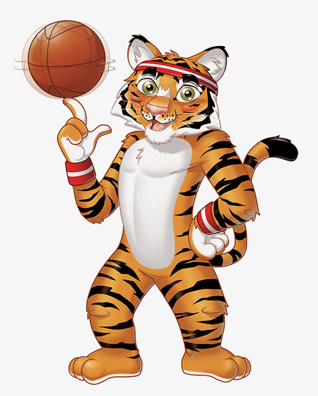 Tiger With Basketball Clipart Free.
