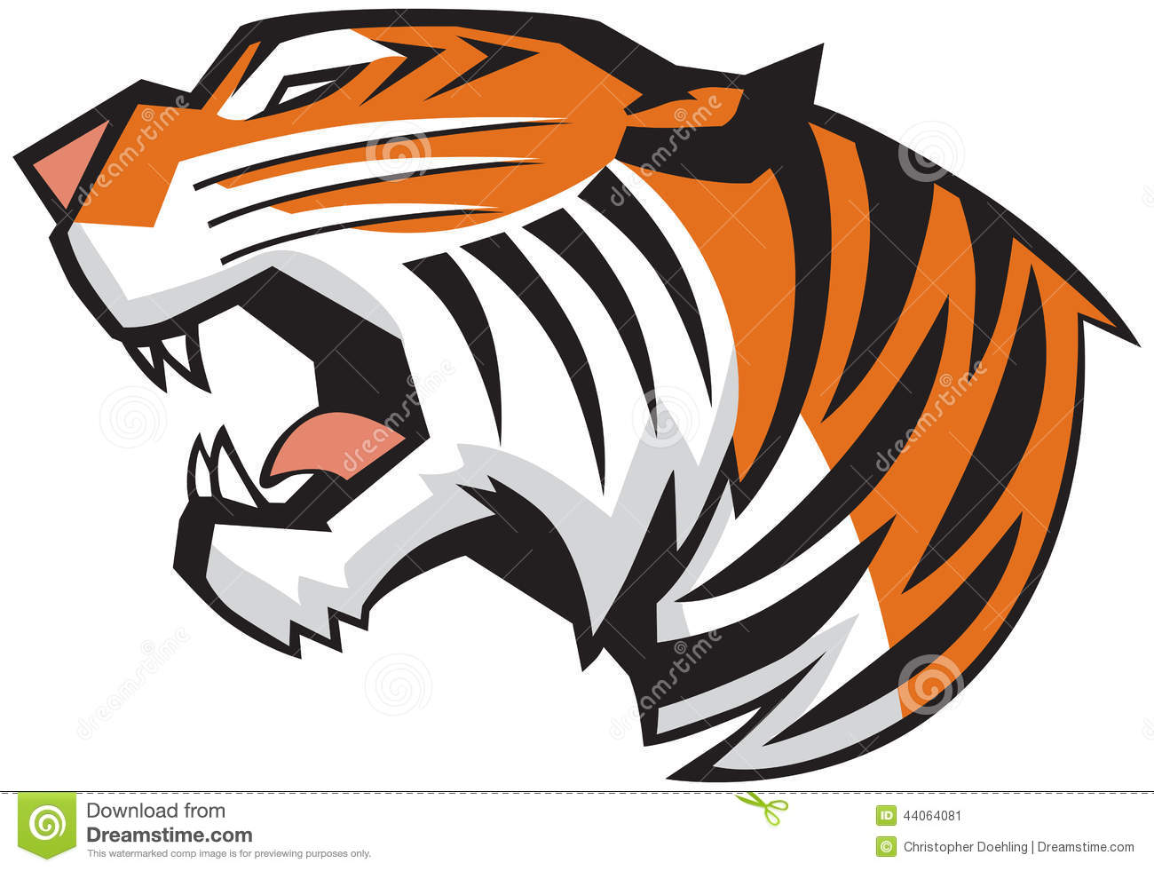 Tiger Mouth Clipart.