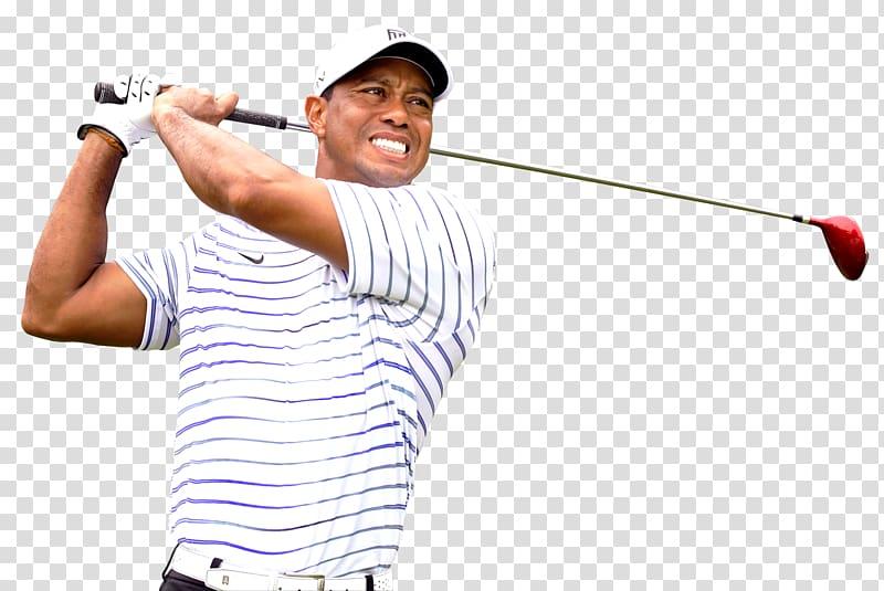 Professional golfer, Tiger Woods transparent background PNG.
