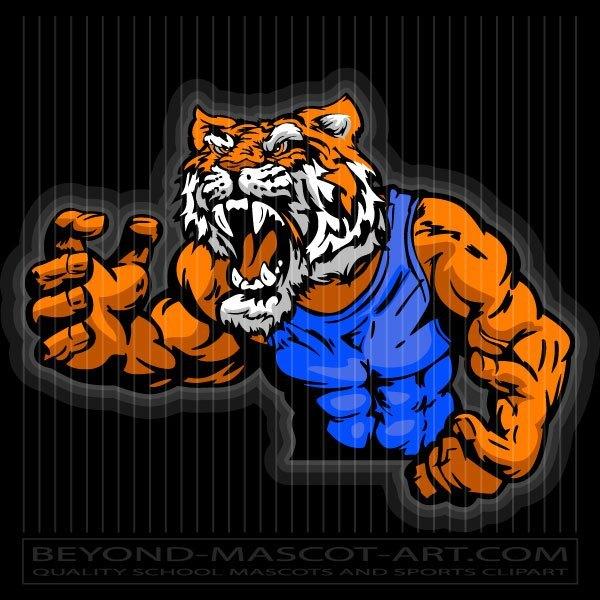 Tiger in Wrestling Pose.