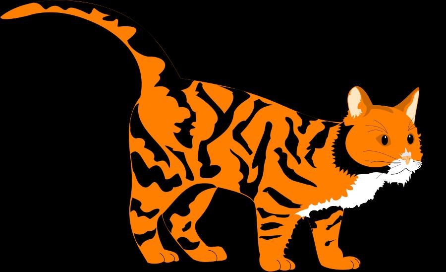 Tiger cat clipart.