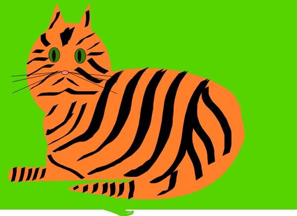 Tiger Cat Clip art.