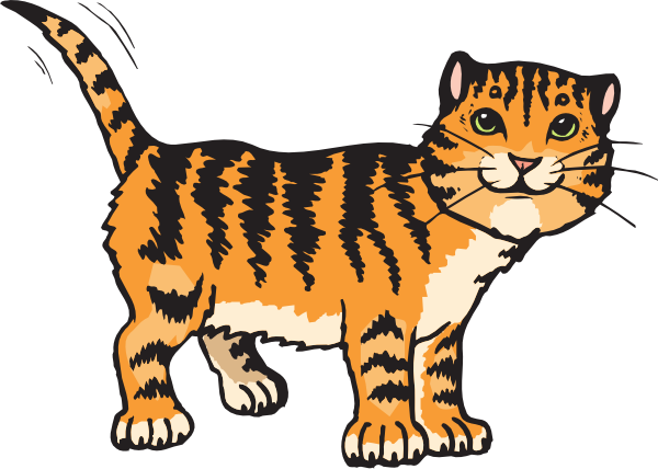 Tiger Cat Clip art.