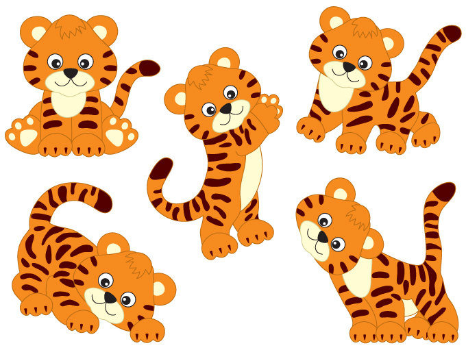 Clipart tigers pictures.