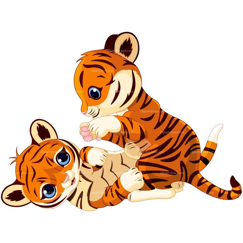CLIPART BABY TIGERS PLAYING.