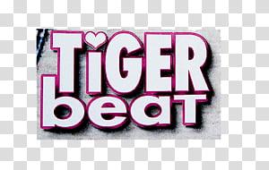 Mag newspaper cuts , Tiger Beat logo transparent background.