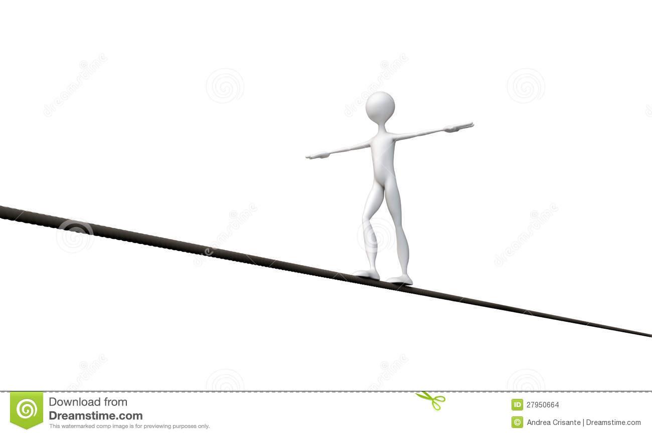 Tightrope walker clipart.