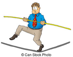 Tightrope walker Clipart and Stock Illustrations. 391 Tightrope.