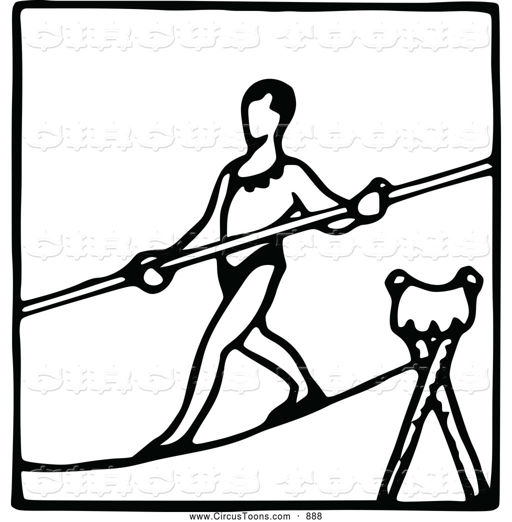 Royalty Free Tightrope Walker Stock Circus Designs.