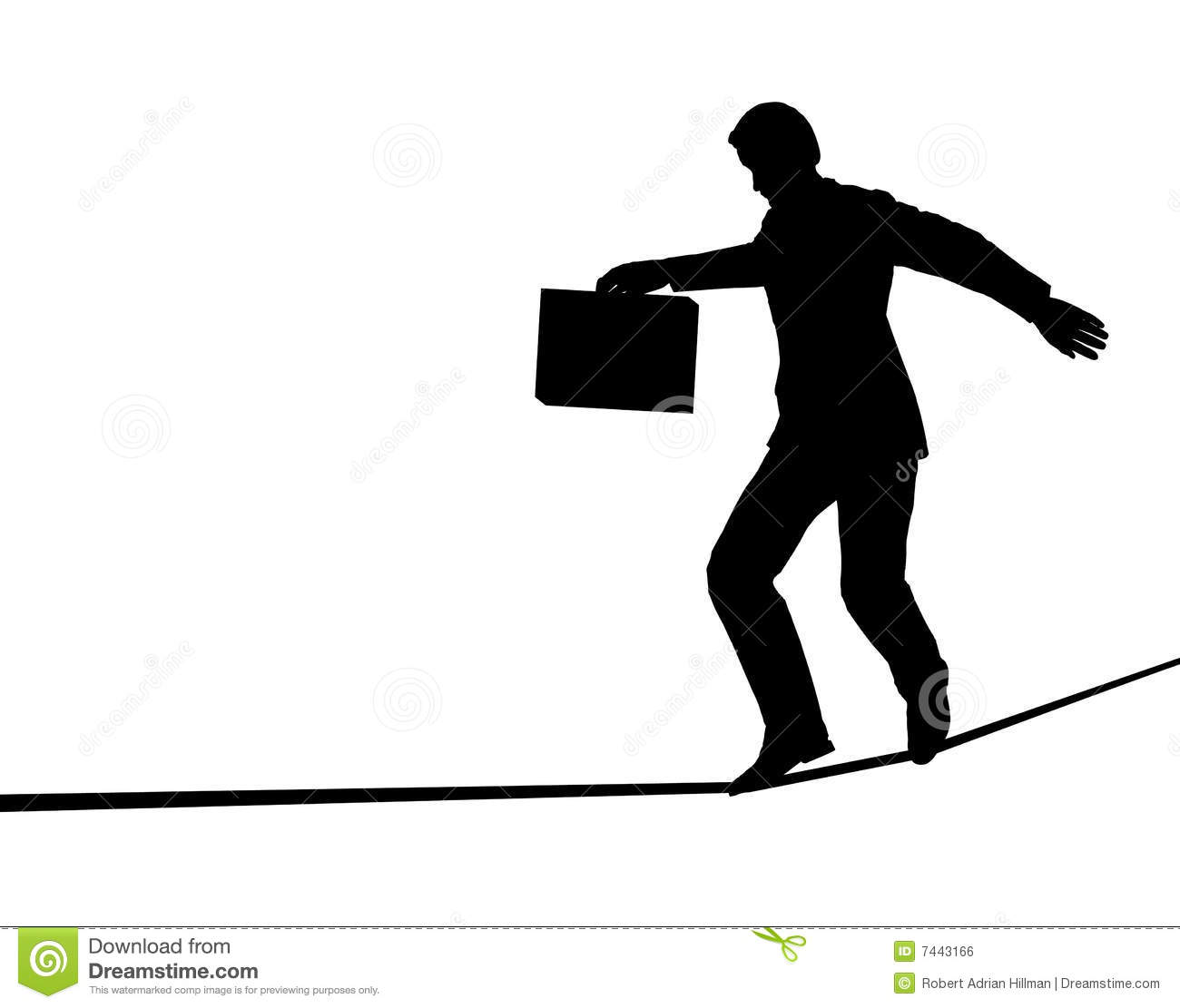 Tightrope Stock Illustrations.