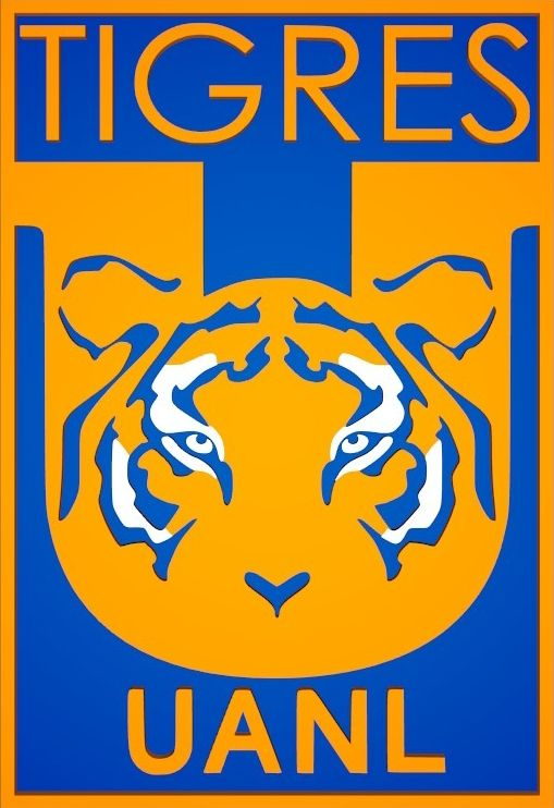 Escudo de Tigres de la U.A.N.L. (2016) sin estrellas.