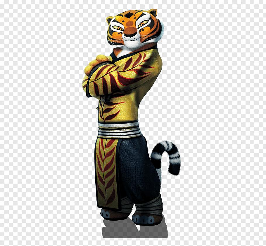 Kung Fu Panda Tigress illustration, Tigress Po Master Shifu.