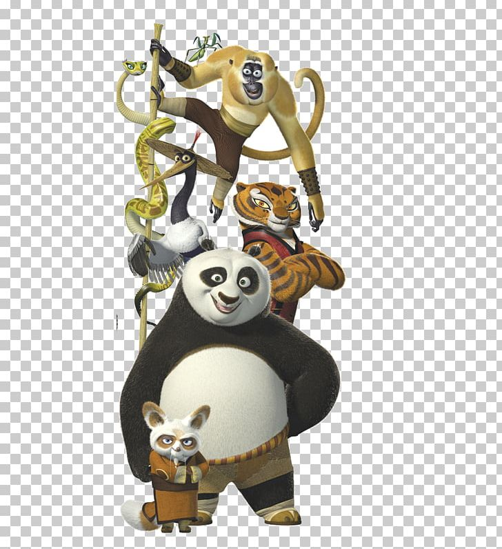 Po Tigress Master Shifu Giant Panda Kung Fu Panda PNG.