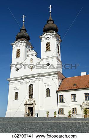 Stock Photography of Hungary, Veszprem, Tihany. Benedictine Abbey.