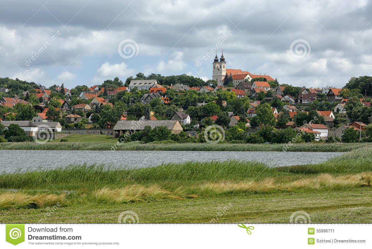 The Tihany Peninsula In Hungary Stock Photo.