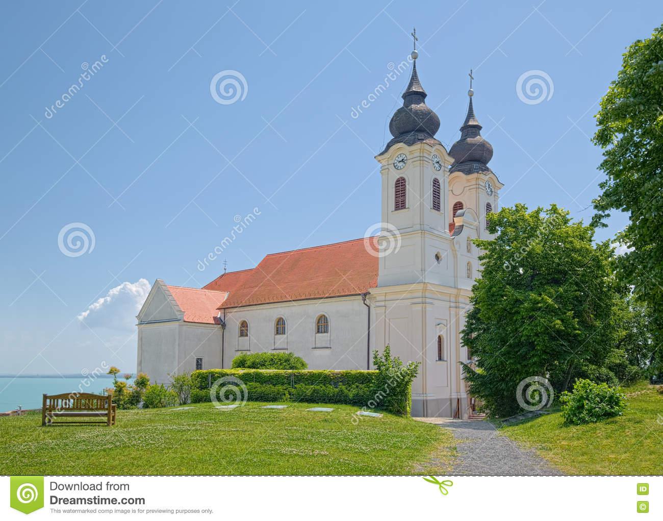 Church At Tihany Abbey, Hungary Stock Photo.
