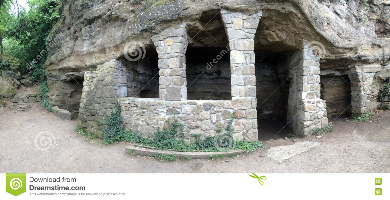 Cave Houses For Monks In Tihany Peninsula, Hungary Europe Stock.