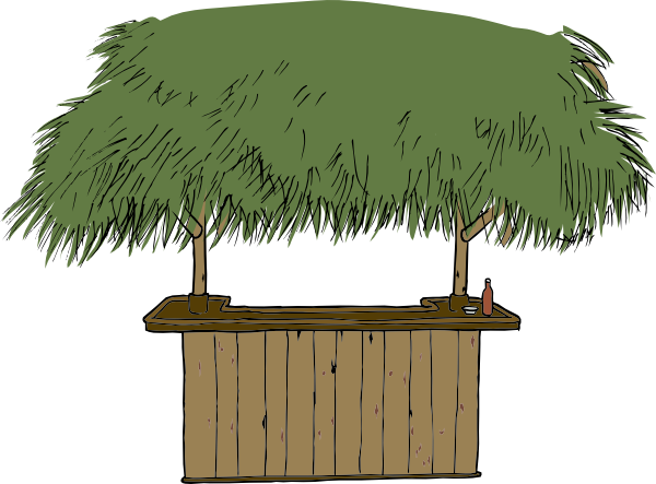 Tiki Bar clip art (106004) Free SVG Download / 4 Vector.