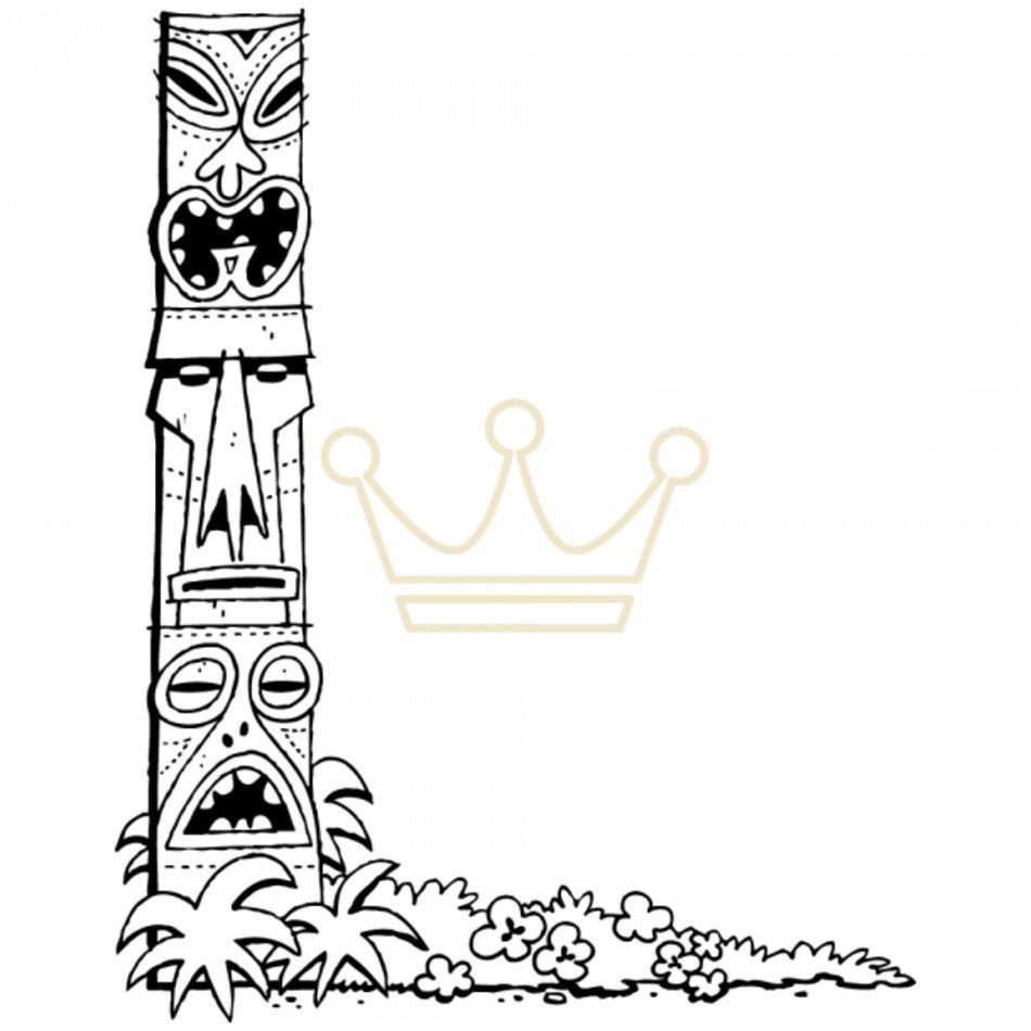 Tiki Border Clip Art N9 free image.