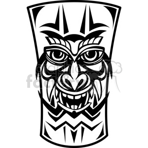 tiki mask clip art 001 clipart. Royalty.