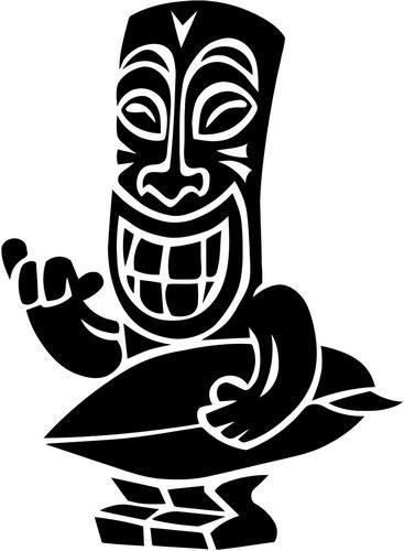 Tiki clipart black and white 2 » Clipart Portal.