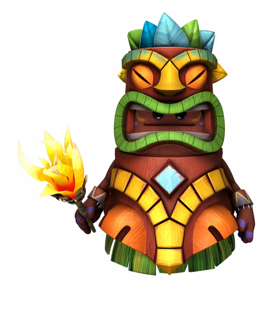 Nativebigtogglefront Hawaiian Tiki Png Little Big Planet.
