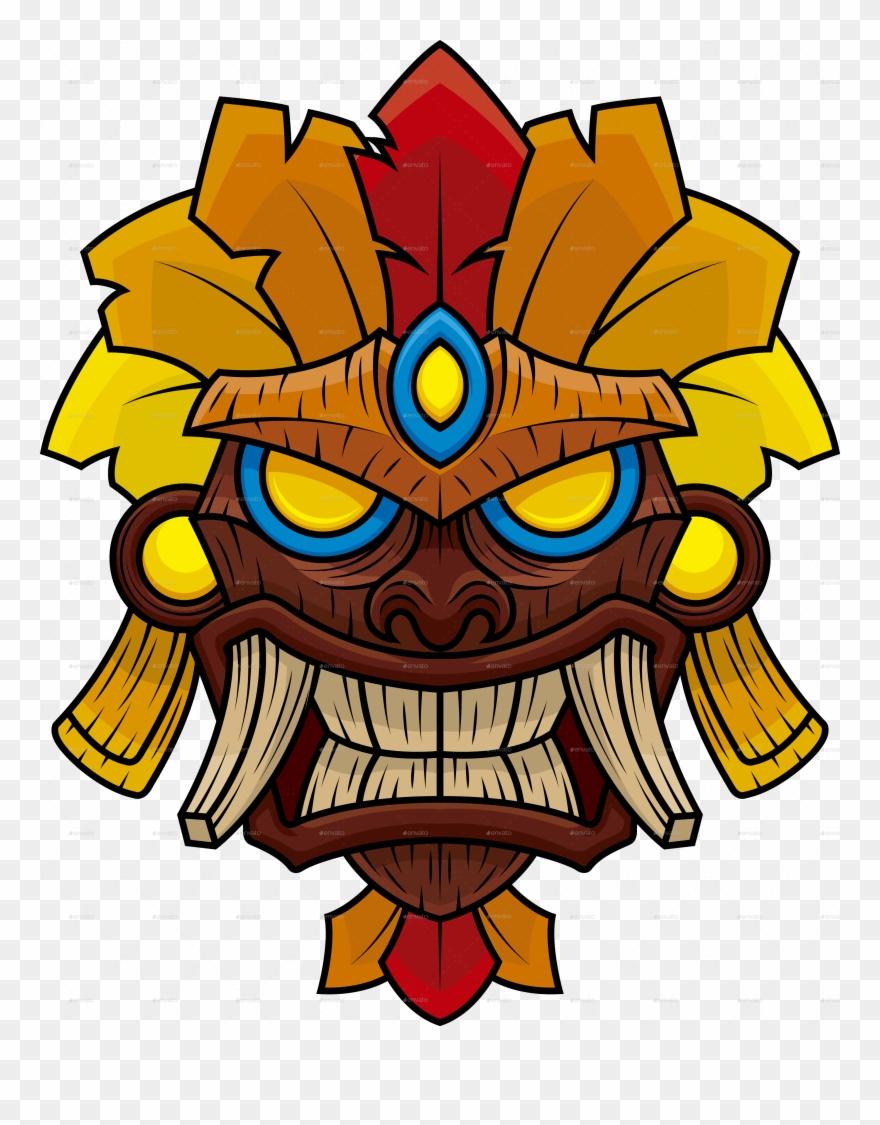 Tiki Mask 4 Clipart (#2528956).
