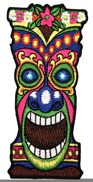 Clipart Hawaiian Tiki Mask.