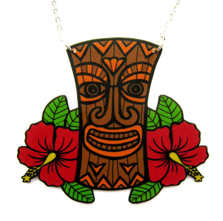 Hawaiian Tiki Clipart.