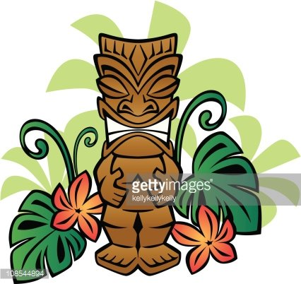 Exotic Tiki God premium clipart.