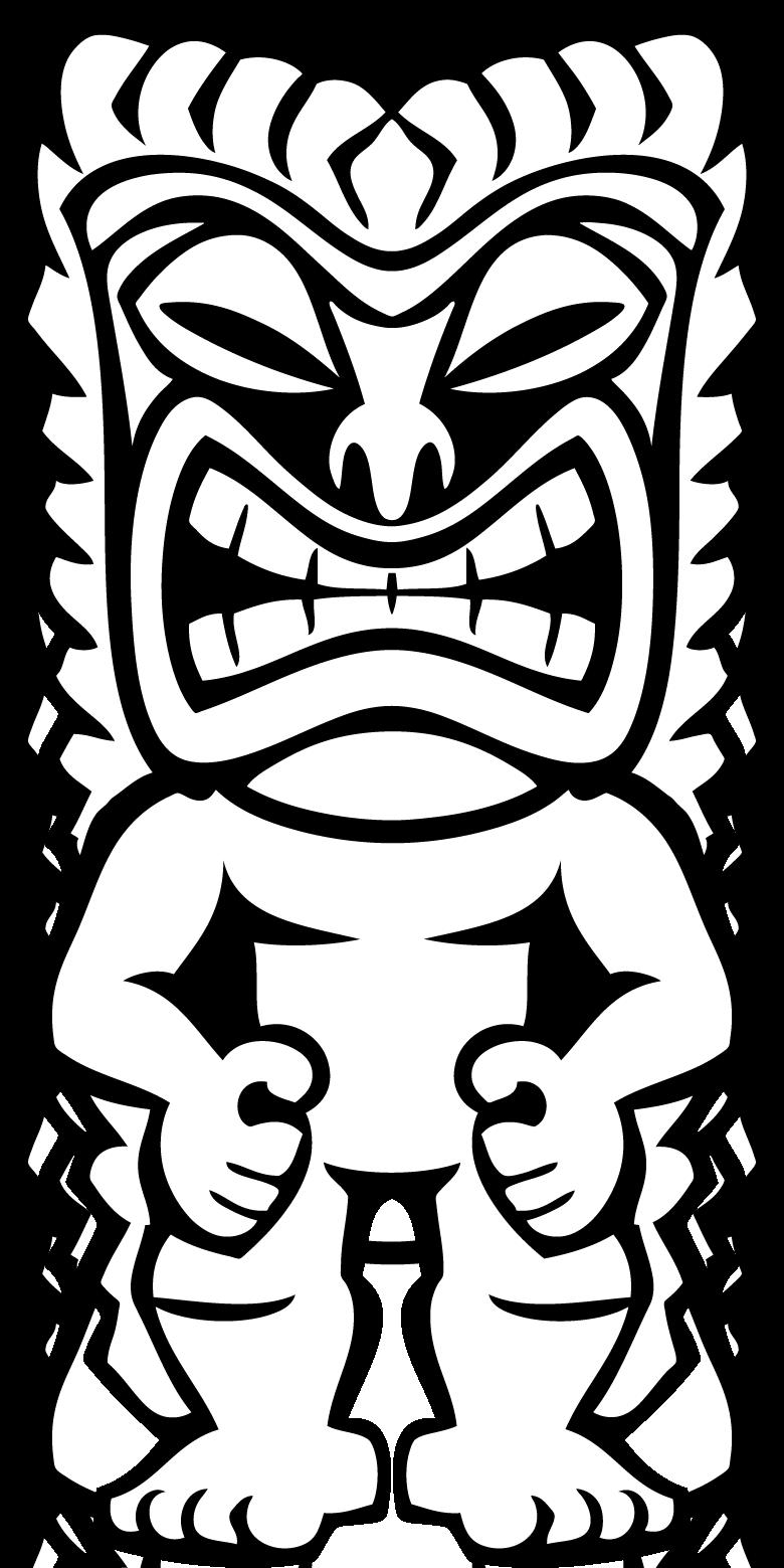 780x1559 Hawaiian Tiki Clip Art Clipart Panda Free Clipart.