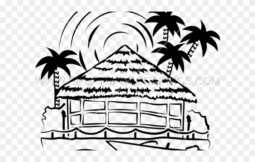 Hut Clipart Tiki Hut.