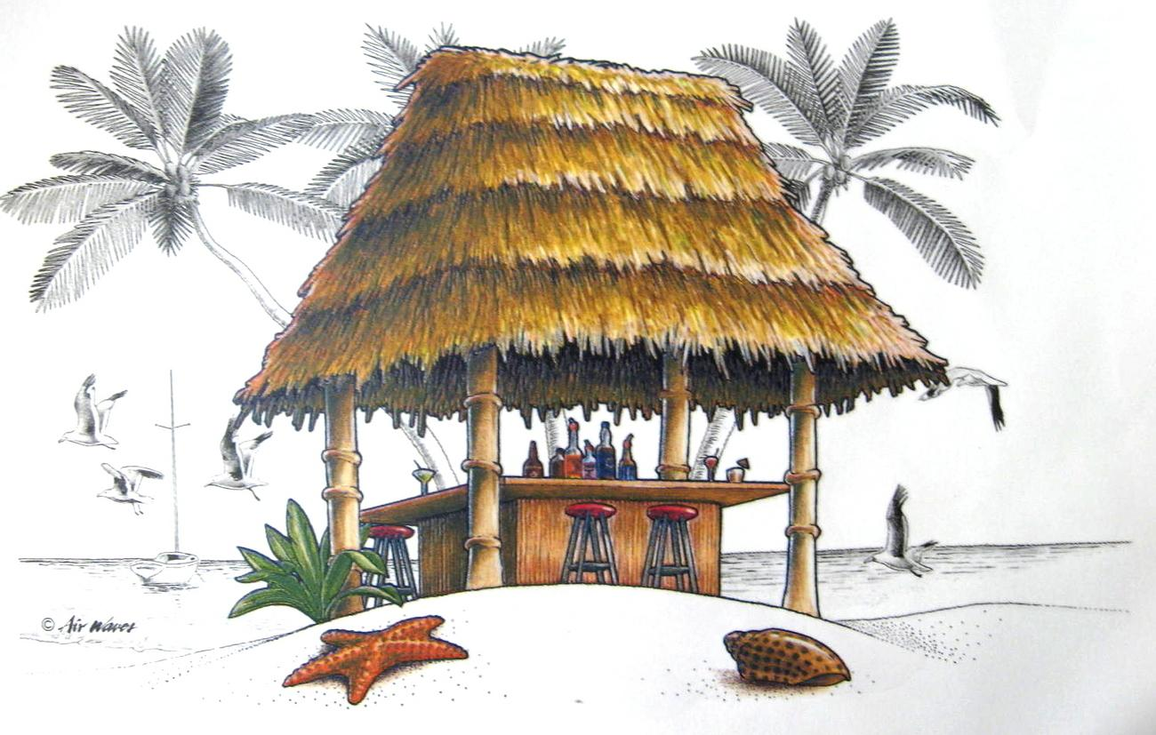 Tiki Hut Cliparts.