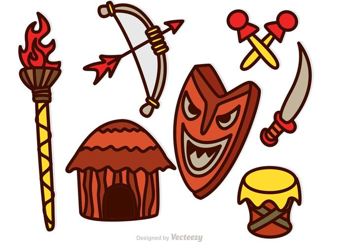 Tiki Icons Vectors.