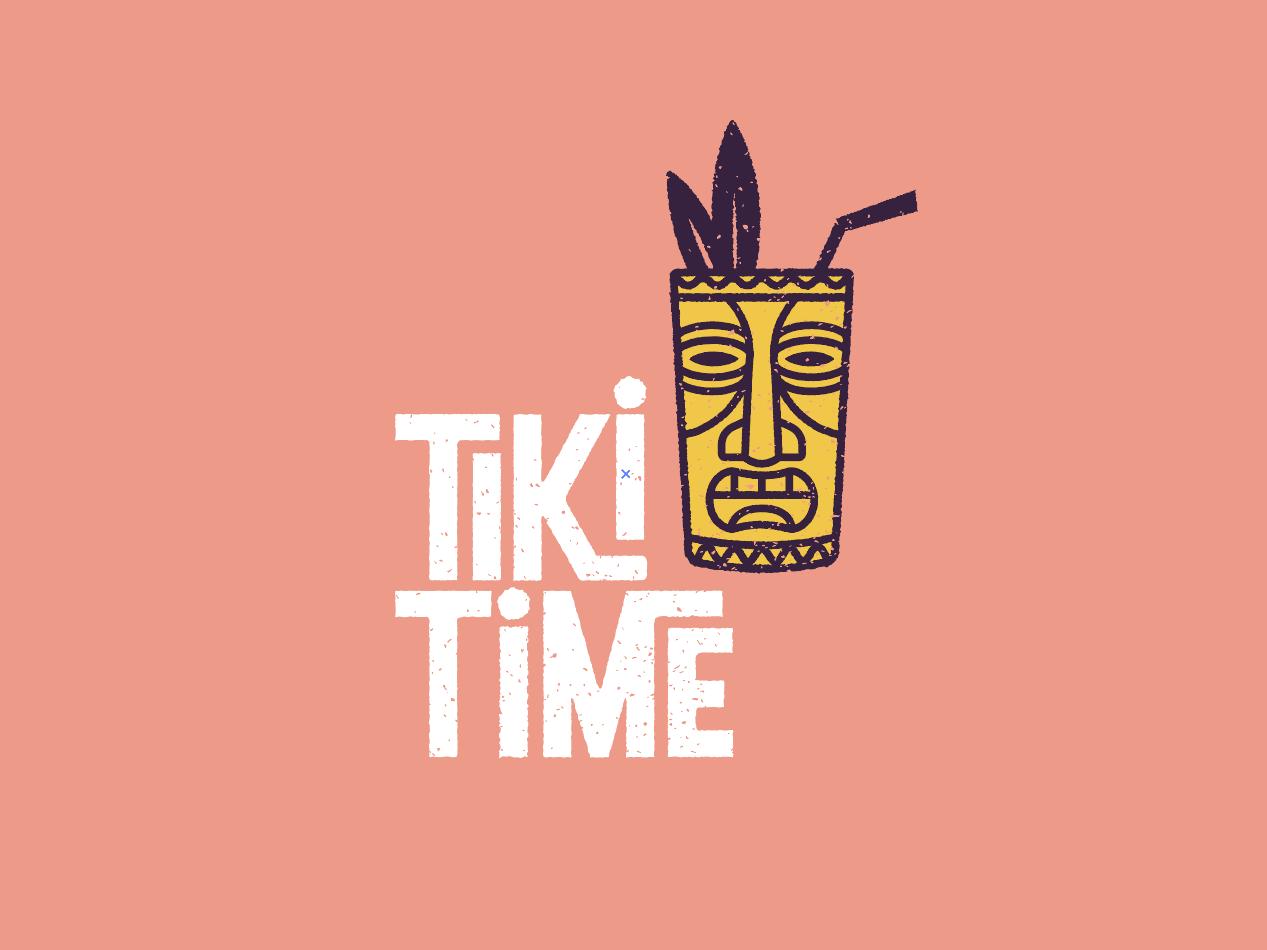 Tiki Time Logo by Robert Vidaure on Dribbble.