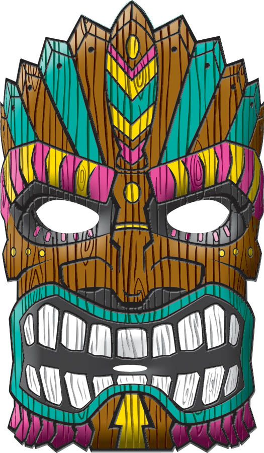 Tiki clipart faces.