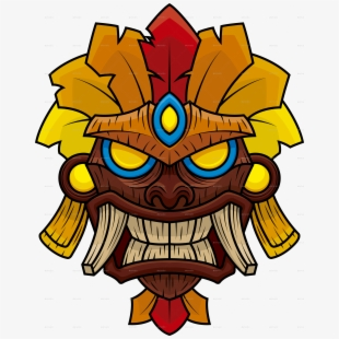 Tiki Head Clip Art.