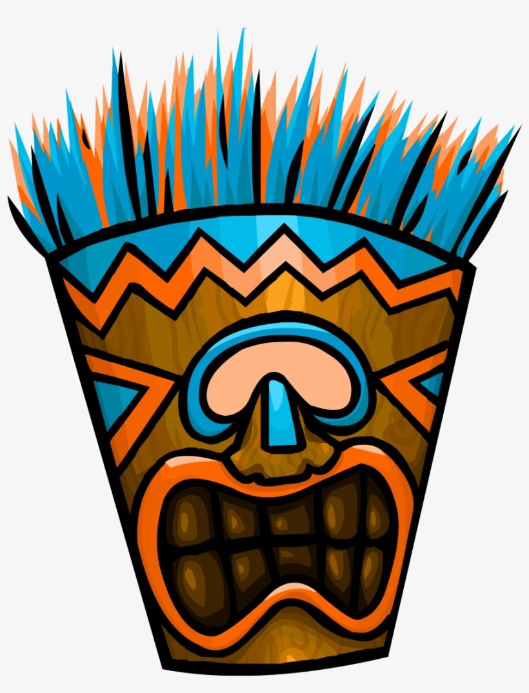 Blue Tiki Mask.