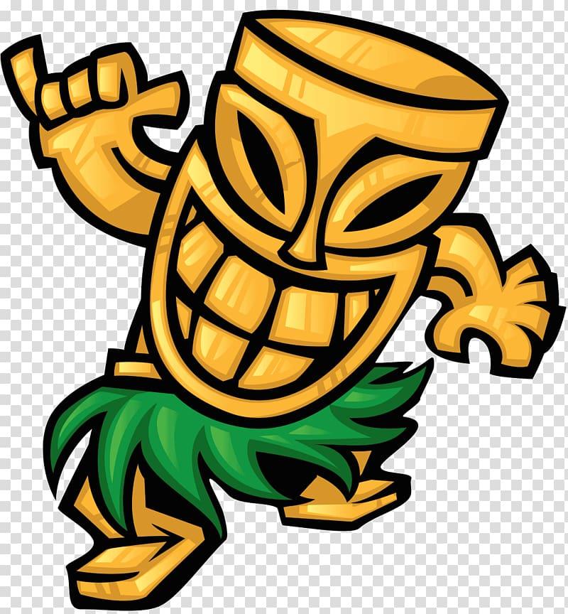 Tiki illustration, Tiki bar Cuisine of Hawaii Hawaiian, mask.