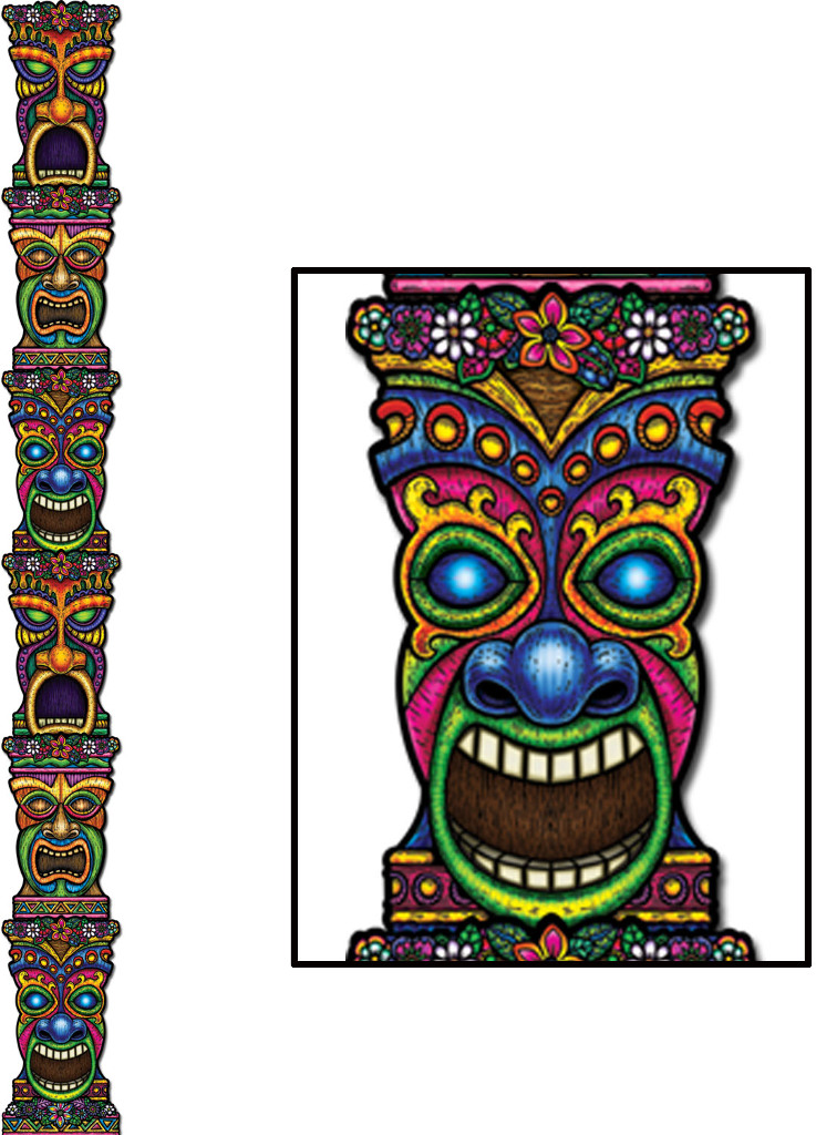 Download tiki pole clipart Jointed Tiki Totem Pole Party.