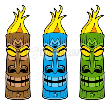 Totem Pole Clipart tiki torch 4.