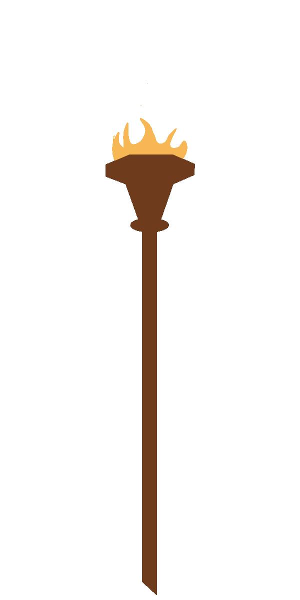 Tiki Torch Drawing.