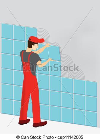 Tile work clipart.