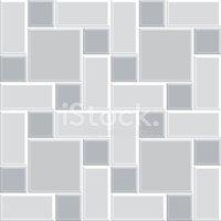 Gray Pattern Tile Floor stockvektorer.