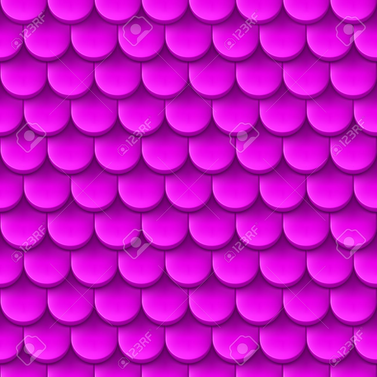 Abstract Background With Roof Tile Pattern In Purple Color.
